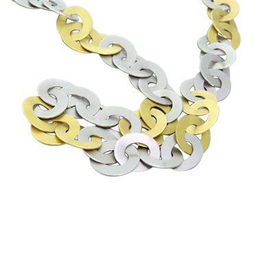 thumbnail image of Modern Gold and Platinum Link Necklace