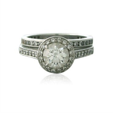 image of Tiffany & Co Platinum 1.00ct G VVS1 Diamond Engagement Wedding Ring