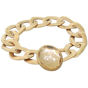 image of Pomellato Narciso Rock Crystal Gold Link Bracelet
