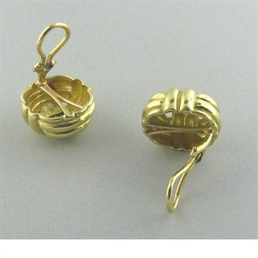 thumbnail image of Tambetti Vintage 18k Yellow Gold Earrings