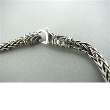 image of John Hardy Sterling Silver Woven Chain Necklace
