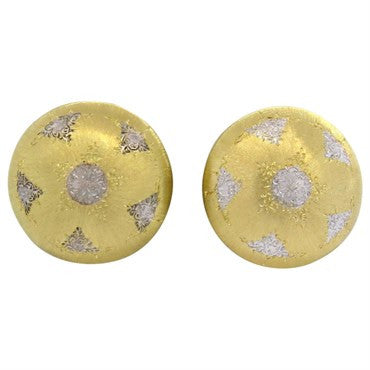 image of Mario Buccellati Large 18k Gold Button Earrings