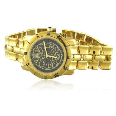thumbnail image of New Fendi Greek God Gold Tone Ladies Watch F85190