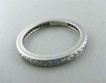 thumbnail image of Tiffany & Co Legacy Platinum Diamond Eternity Wedding Band Ring