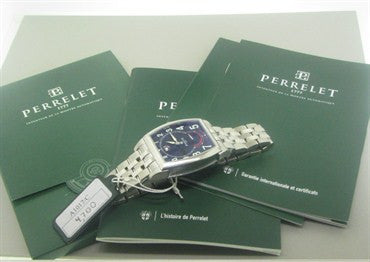 image of New Perrelet Power Reserve Tonneau Mens Watch