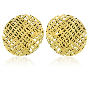 thumbnail image of Estate Hans Appenzeller Amsterdam 18K Gold Round Earrings