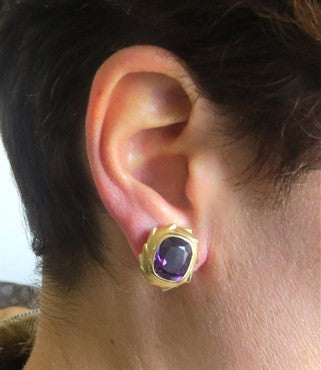 thumbnail image of Pedro Boregaard Amethyst 18k Gold Earrings