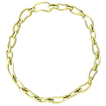 image of New Pomellato Paisley 18k Gold Link Necklace