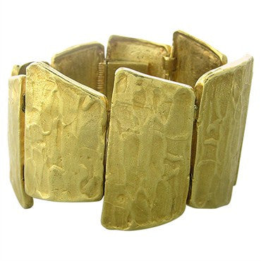 image of Estate Ed Wiener 18K Yellow Gold Textured Bracelet
