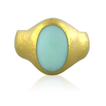image of New Gurhan 24k Gold 7.25ct Opal Ring