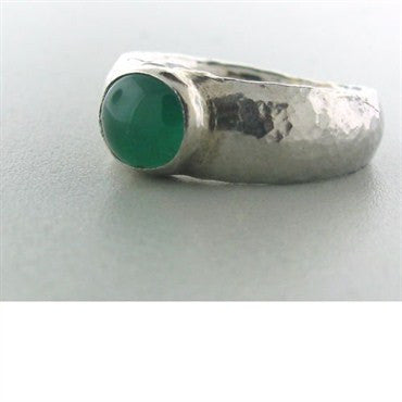 thumbnail image of New Gurhan Platinum Cabochon Emerald Ring