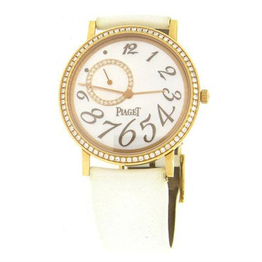 Piaget Lady's Yellow Gold Mecanique Diamond Dial Watch
