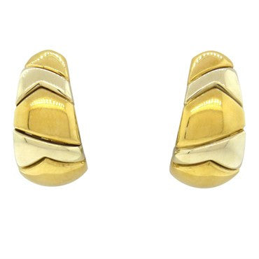 image of Bvlgari Bulgari 18k Gold Half Hoop Earrings