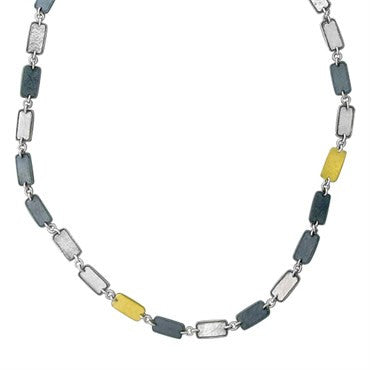 thumbnail image of New Gurhan Contour 24K Gold Sterling Blackened Silver Necklace