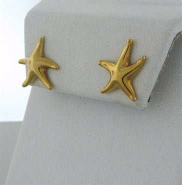 thumbnail image of Tiffany & Co Elsa Peretti 18K Gold Starfish Earrings