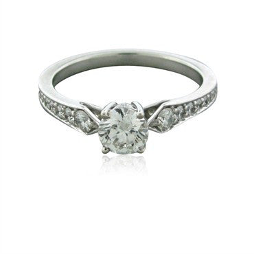 image of New Hearts On Fire Perfectly Bridal Solitaire Diamond Engagement Ring
