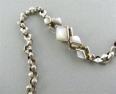 image of Stephen Webster Sterling Silver Mother Of Pearl Necklace