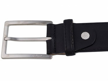 image of ST Dupont Black Leather Casual Chic Belt 7860000