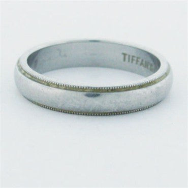 image of Estate Tiffany & Co Platinum Wedding Band