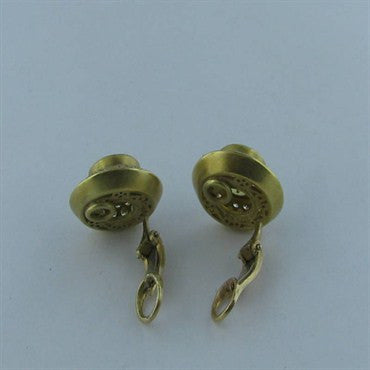 thumbnail image of Estate 18k Gold Kieselstein Cord Beryl Diamond Earrings