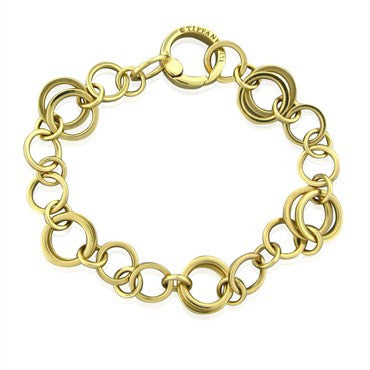 image of Tiffany & Co 18K Yellow Gold Circle Link Bracelet
