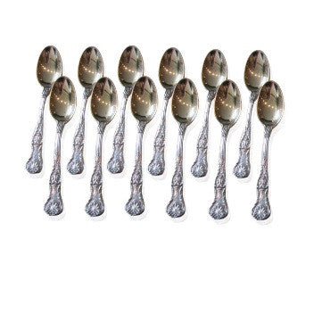 thumbnail image of Antique Gorham Sterling King George Demitasse Spoon Set
