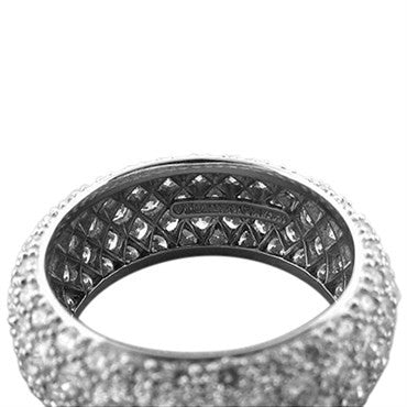 thumbnail image of Tiffany & Co Etoile Five Row Platinum Diamond Band Ring