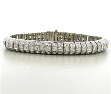 image of Classic 7.50ctw Diamond Gold Bracelet