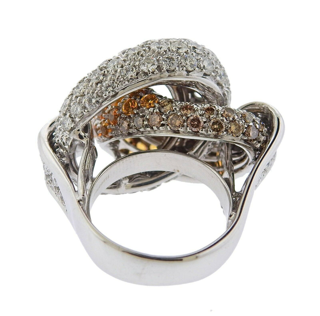 thumbnail image of Dal Lago White Gold 7.03ctw Diamond Knot Ring
