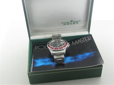 image of Rolex GMT Master Stainless Steel Automatic Mens Watch Ref. 16760