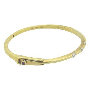 thumbnail image of Roberto Coin 18k Yellow Gold Diamond Bangle Bracelet
