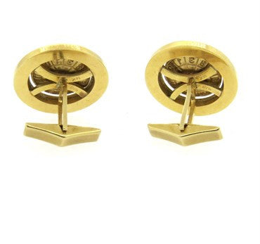 image of Sapphire Ruby 14k Gold Casino Roulette Cufflinks