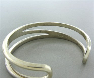 image of Estate Tiffany & Co Sterling Silver Funky Cuff Bracelet