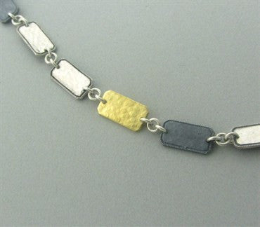 image of New Gurhan Contour 24K Gold Sterling Blackened Silver Necklace