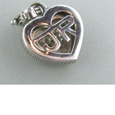 image of Judith Ripka Sterling Mop CZ Heart Charm Pendant
