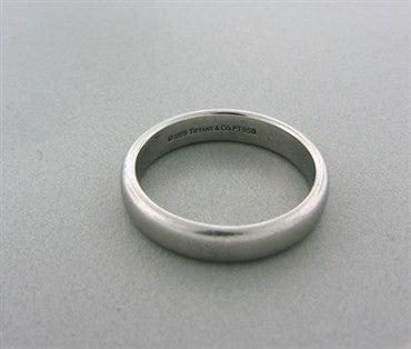 thumbnail image of Estate Tiffany & Co 4.5mm Platinum Wedding Band Ring