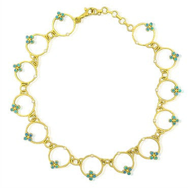 image of New Gurhan 24K Yellow Gold Diamond Opal Necklace