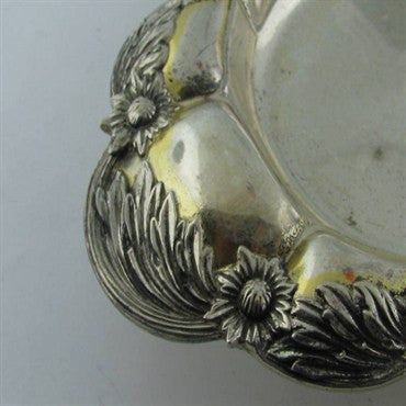 image of Estate Tiffany & Co Chrysanthemum Footed Tray