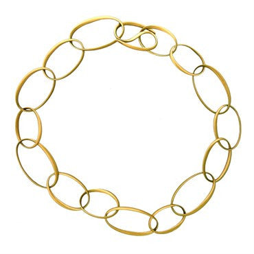 thumbnail image of New Pomellato Victoria 18k Gold Link Necklace
