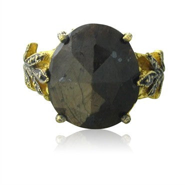 thumbnail image of Cathy Waterman 22K Gold Brown Sapphire Diamond Ring