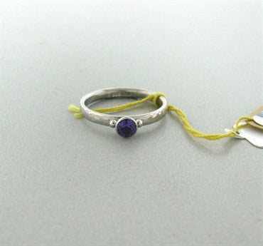 thumbnail image of New Gurhan Platinum 4mm Amethyst Ring