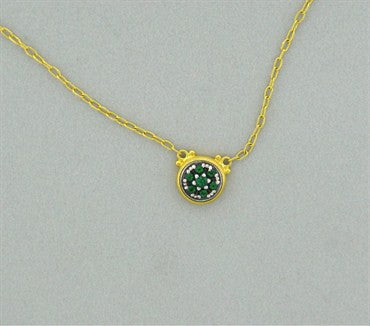 image of New Gurhan 24K Gold Green Tourmaline Necklace