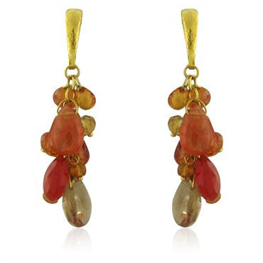 image of New Gurhan 24K Gold Confetti Multi Gemstone Earrings