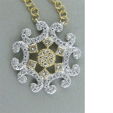 image of New Charriol Cignature 18k Gold Diamond Necklace