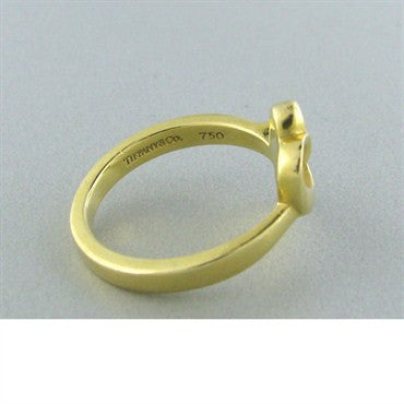 thumbnail image of Tiffany & Co Paloma Picasso 18k Gold Loving Heart Ring