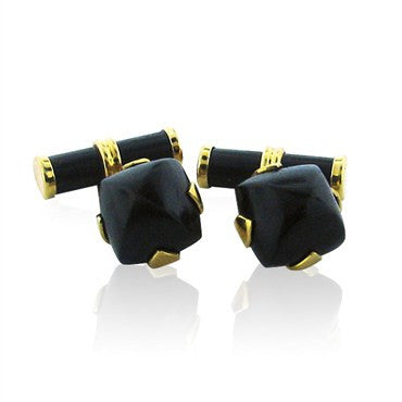 image of Trianon 18K Gold Wood Cufflinks