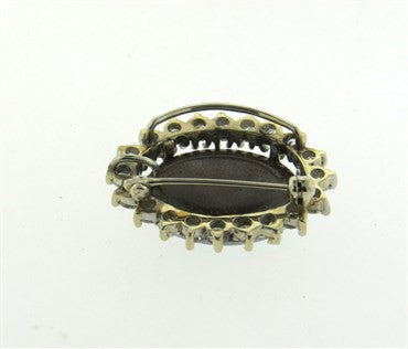 thumbnail image of 14k Gold 1.50ctw Diamond Opal Pendant Brooch