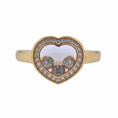 image of Chopard Happy Diamonds Gold Heart Ring