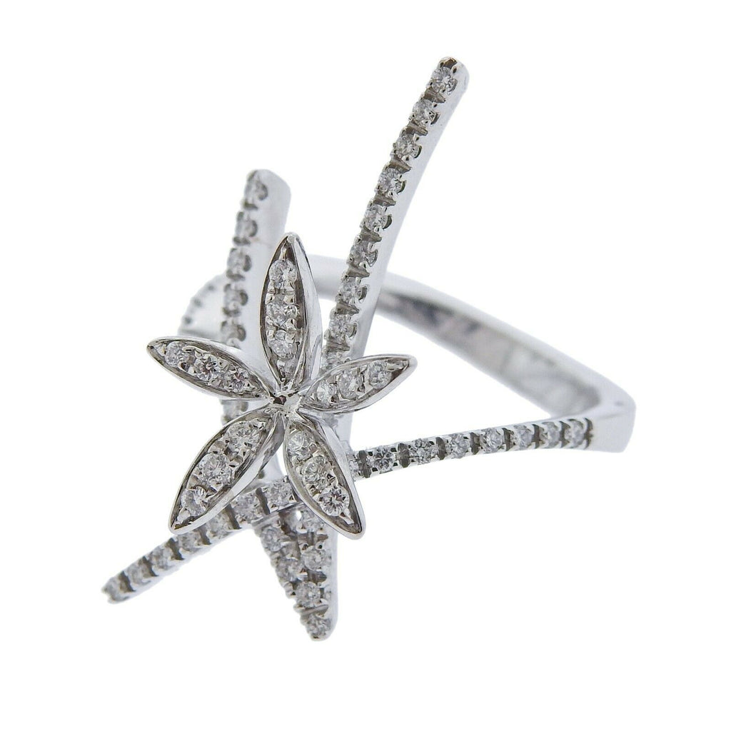 thumbnail image of Stefan Hafner White Gold Diamond Flower Ring
