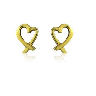 image of Tiffany & Co Paloma Picasso 18K Gold Loving Heart Mini Earrings